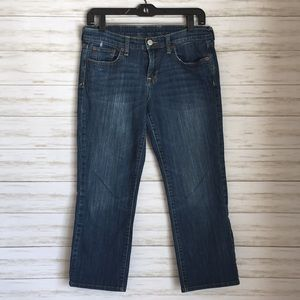 Lucky Brand slightly distressed cropped jeans